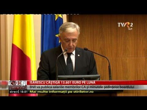 Mugur Isărescu şi-a făcut public salariul: 61.203 lei net/lună