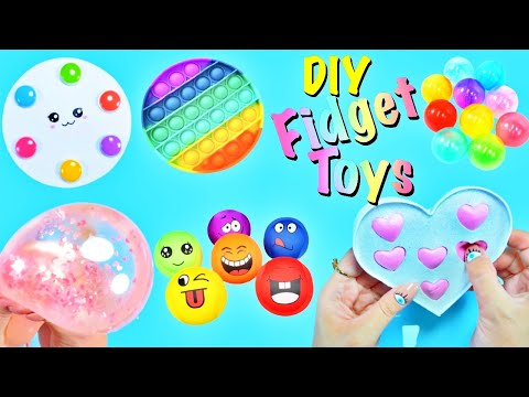 DIY – FIDGET TOYS HACKS AND CRAFT IDEAS YOU WILL LOVE – Heart POP IT and more..