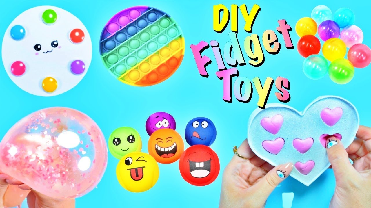 DIY - FIDGET TOYS HACKS AND CRAFT IDEAS YOU WILL LOVE - Heart POP IT and more..