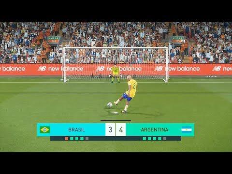 FINAL DA COPA DO MUNDO BRASIL VS ARGENTINA EMOCIONANTE - PES 2018 - RUMO AO ESTRELATO #18
