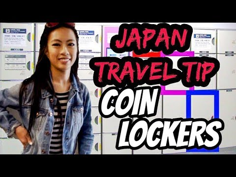 Japan Travel Tips Coin Lockers in Japan, Luggage Storage in Tokyo Japan,Traveling Japan with Luggage
