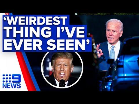 Donald Trump mocks Joe Biden's CNN townhall in Pennsylvania   9 News Australia