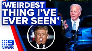 Highlights from the rallies in rust belt as us president donald trump visits wisconsin and democratic nominee hosts a cnn drive-in townhall parking ...