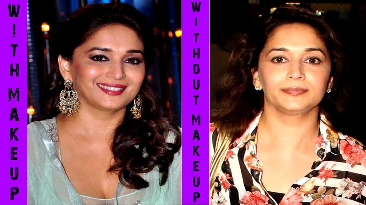 Madhuri Dixit Without Makeup With Makeup Orginal Face Youtube