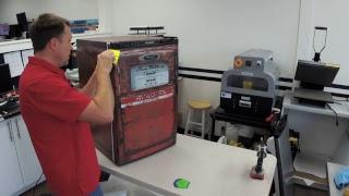 Gas pump mini fridge with wrap Rm wraps Rm wraps