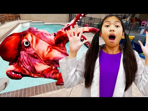 Download Wendy and Eric Pretend Play Stories for Children about Animals in Swimming Pool
