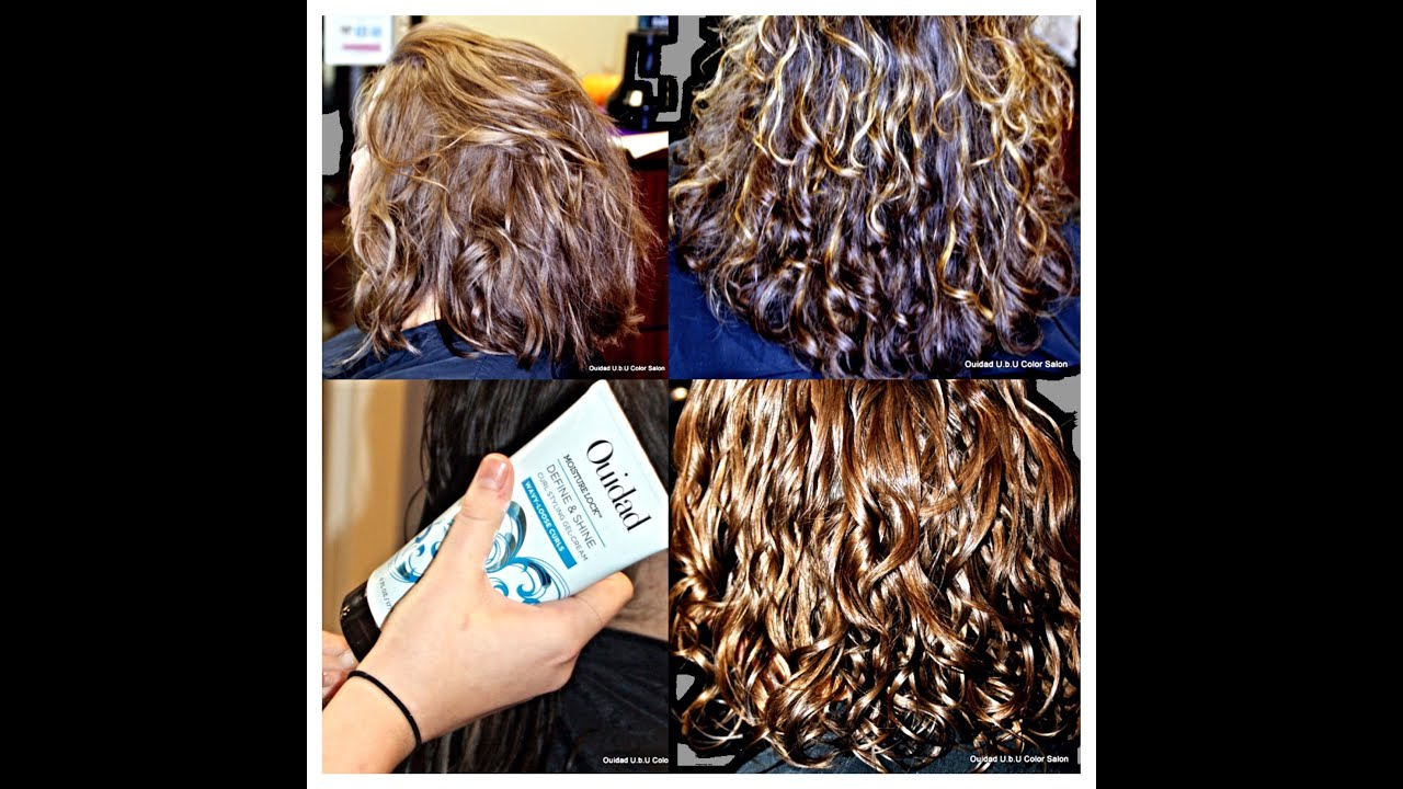 Curly Hair Balayage Ouidad Haircut