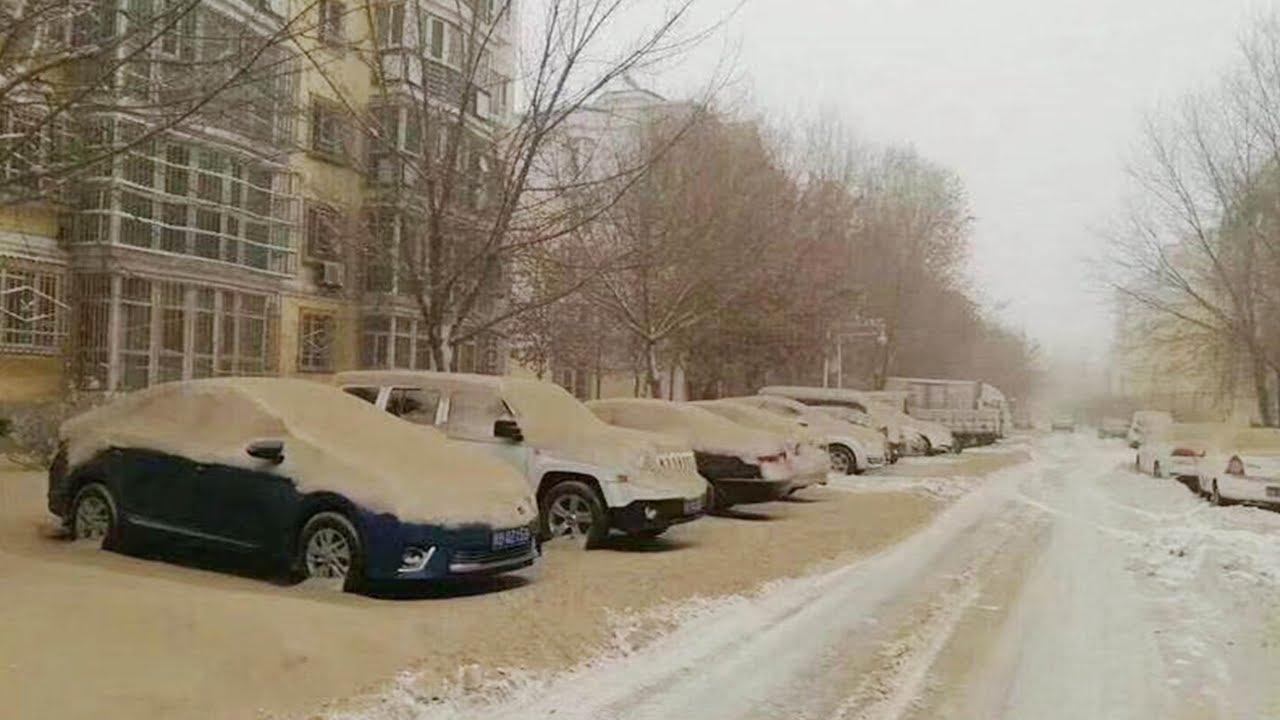 Çinde sarı kar yağıyor