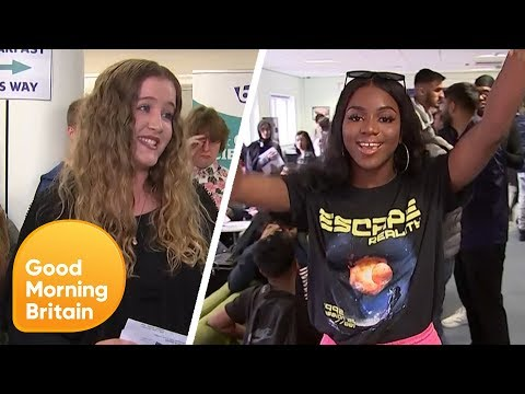 A - Level Students Open Their Results Live on Air! | Good Morning Britain