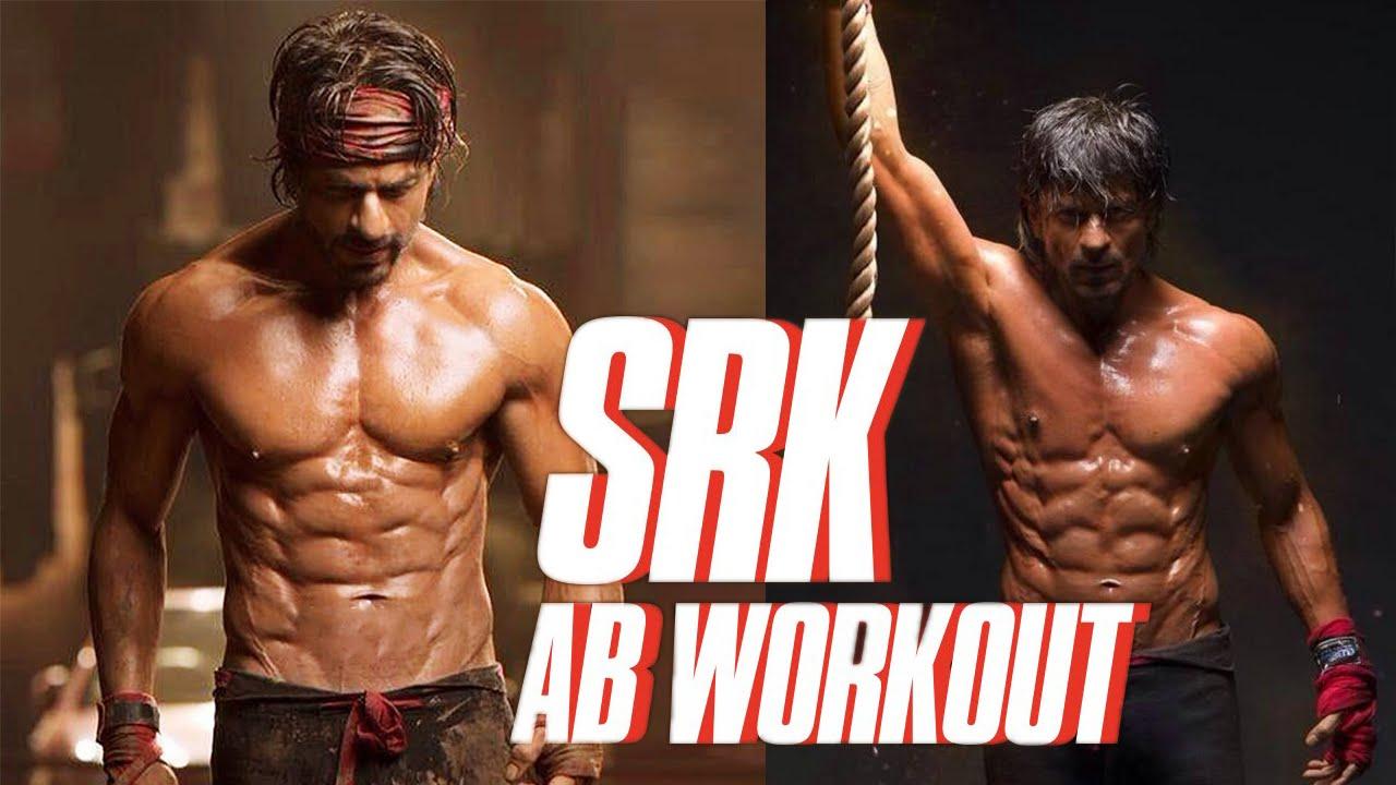 Shah Rukh Khan AB Workout | Exercise | SRK Rock Solid - YouTube