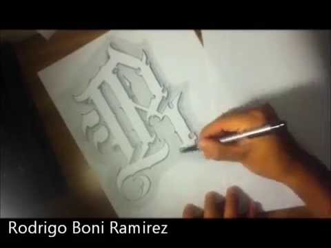 The letter r custom chicano style tattoo letters youtube