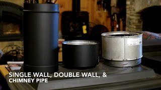 Wood Stove Pipe Introduction, Demo, & Review-DuraBlack, DVL, & Duratech