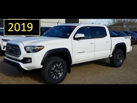2019 Toyota Tacoma Double Cab TRD Off Road in Super White review of details and walkaround