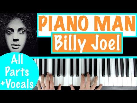 How To Play Piano Man Billy Joel Piano Chords Accompaniment Tutorial Youtube