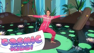 Frank The Frog | A Cosmic Kids Yoga Adventure!(Episode 10 | Frank The Frog | A Cosmic Kids Yoga Adventure! A kids yoga adventure about supporting your friends. Stream our videos ad-free: ..., 2014-01-18T21:44:49.000Z)