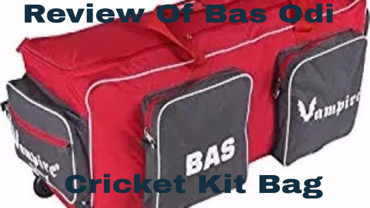 1a81e68447 Review Of Bas Vampire Odi Cricket Kit Bag - Quality Play - YouTube
