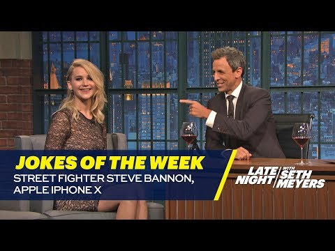 Download Youtube: Seth's Favorite Jokes of the Week: Street Fighter Steve Bannon, Apple iPhone X