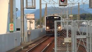 筑肥線快速列車・終着の唐津駅に到着