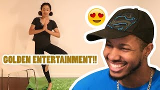 STRETCHING OUT! YOGA WITH LIZZZA! REACTION