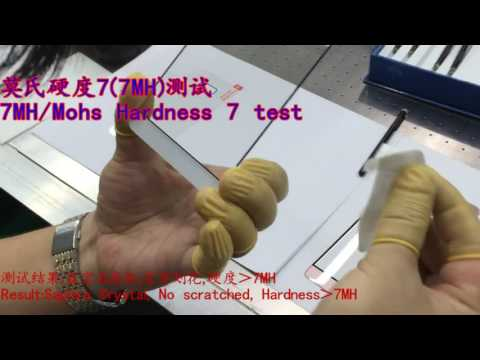 Mosh Hardness  Scale Testing for different glass