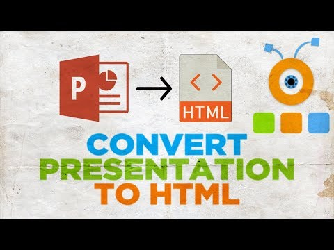How To Convert PowerPoint Presentations To HTML | How To Convert PPT File To HTML