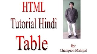 Learn Html Tutorial In Hindi 19 Tables With Example