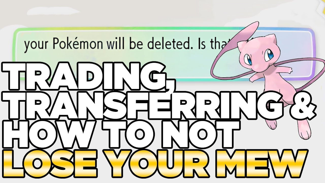 Save Games, Trading, & NOT Losing Your Mew from Pokeball Plus - Pokemon  Let's Go Pikachu & Eevee