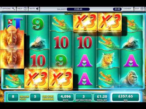 Crazy Raging Rhino Bonus Big Win £1 Stake