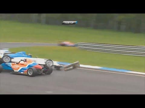 SMP Formula 4 Championship 2017. Race 2 Smolensk Ring. Crash