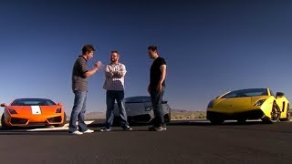 Lamborghini drag-race | Top Gear USA