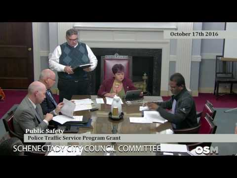 Schenectady City Council Committee Meeting October 17th 2016