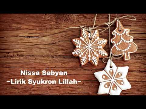 Free Download Mp3 Lagu Nissa Sabyan Syukron Lillah