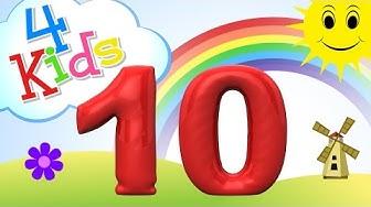 Zahlen lernen für Kinder - zählen lernen von eins bis zehn (deutsch)