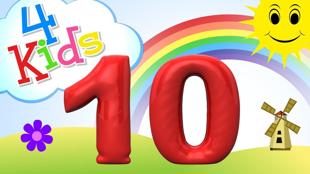 Zahlen lernen für Kinder - zählen lernen von eins bis zehn (deutsch ...