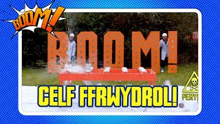 Y Bang Mawr: FFRWYDRO PAENT!   Paint explosion experiment!