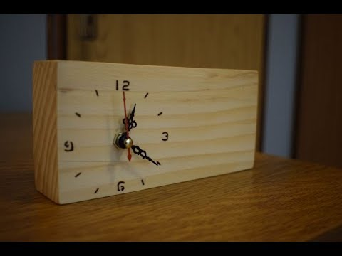 Making Wooden Clock with Pencils Holder | Woodworking Project | Woodwork