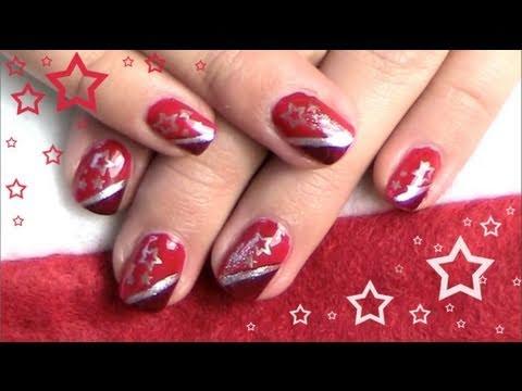 Gelnägel Weihnachten Bilder.Red Christmas Weihnachts Nagel Design