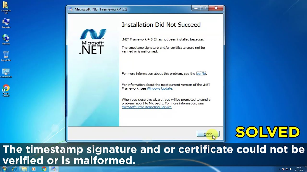 FIX] The timestamp signature or certificate could not be verified ...