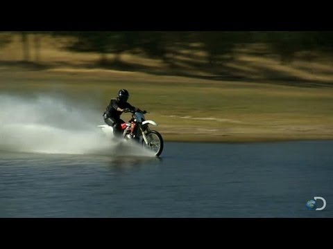how to ride a dirt bike on water