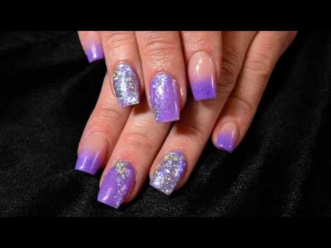 Purple Ombre Acrylic Nail Tutorial | Watch Me Work thumbnail
