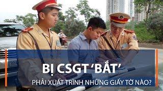 Bị CSGT 'bắt', phải xuất trình những giấy tờ nào?  | VTC1