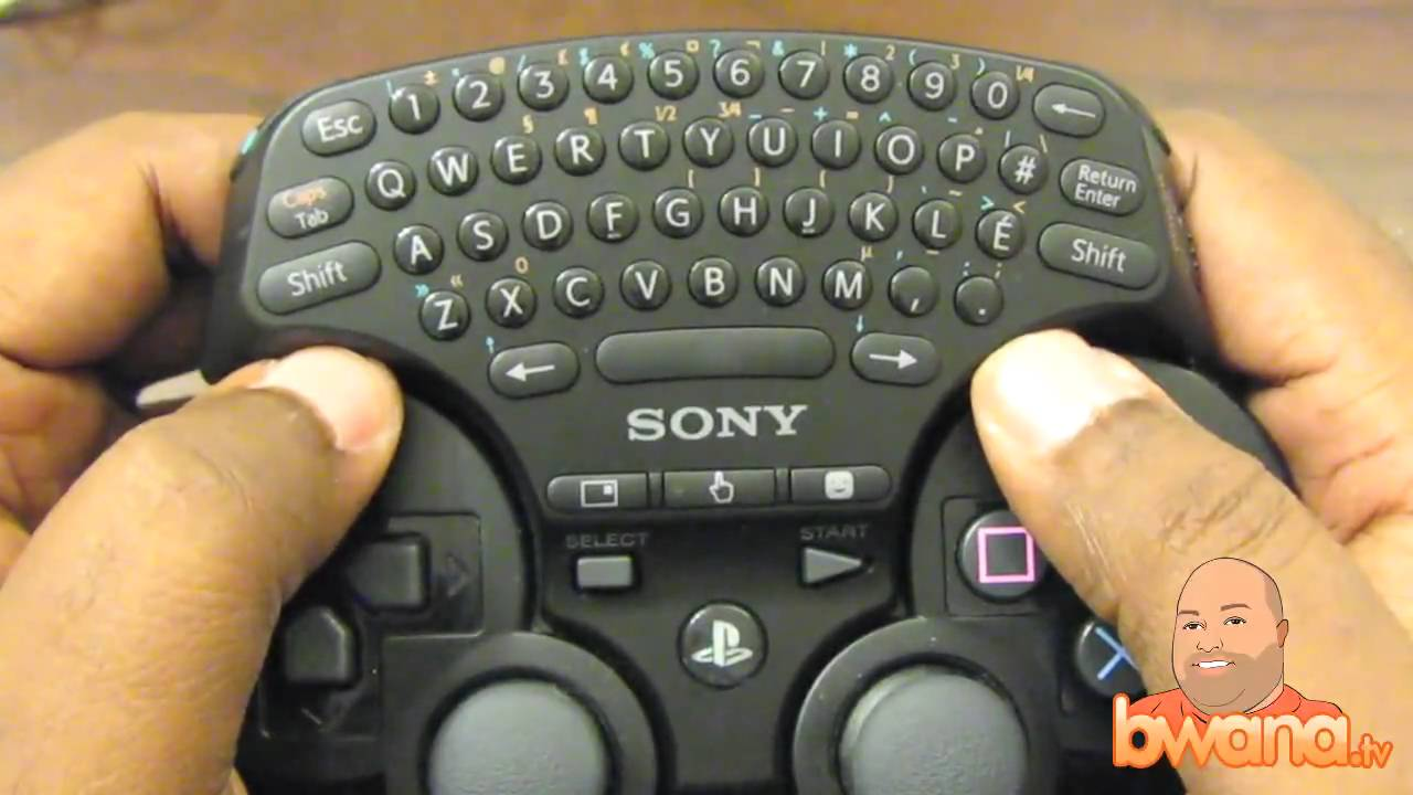 Playstation 3 Ps3 Wireless Keypad Review Youtube