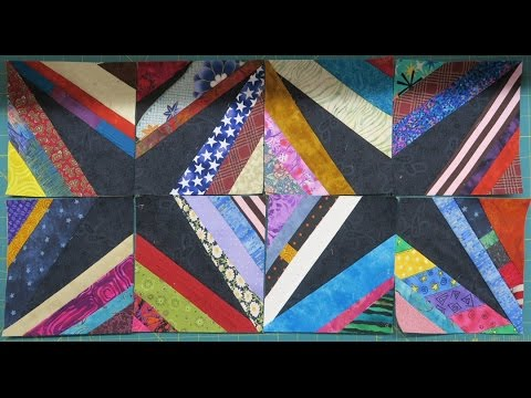Quilt Block:  Diamonds Are Forever AND Everything You Need To Know About Piecing String Blocks