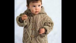 Детское вязание Детская  куртка с капюшоном