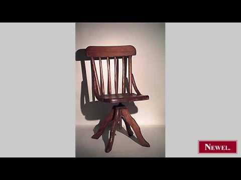 Antique American Victorian Oak Childs Swivel Desk Chair   YouTube