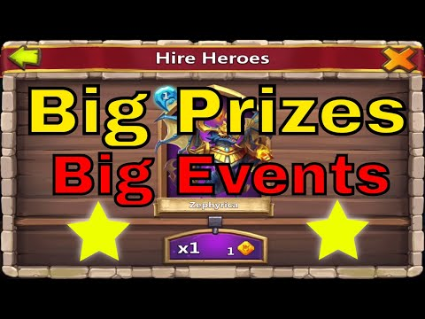 Castle Clash Big Prizes Big Events