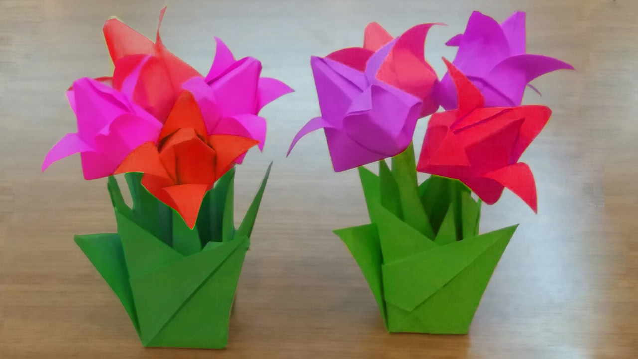 How to make paper tulip flowers bouquet diy tulips flowers vase how to make paper tulip flowers bouquet diy tulips flowers vase you can do this jeuxipadfo Image collections