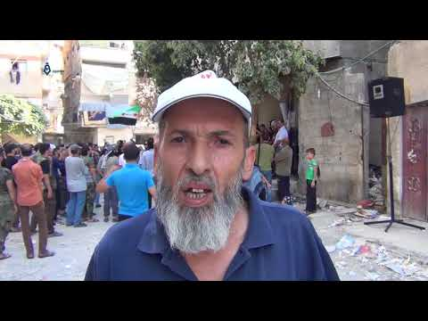 Damascus: Protest Southern Damascus To Refuse The Displacement 27-9-2017