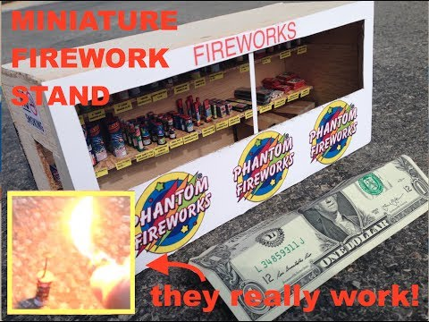 Miniature Firework Stand -  with TINY fireworks that WORK!
