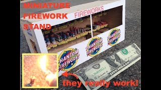 Video Miniature Firework Stand -  with TINY fireworks that WORK! download MP3, 3GP, MP4, WEBM, AVI, FLV Agustus 2017